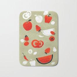 Red Flavor Bath Mat