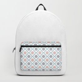 Red & Blue Mute Lattice Backpack