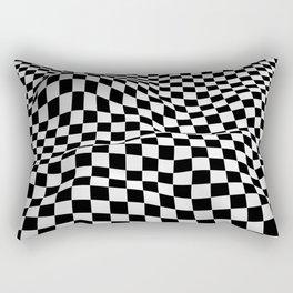 Wiggly Checker Board Rectangular Pillow