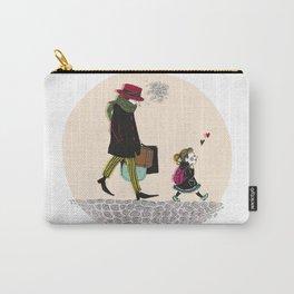 Sad gentleman et little girl Carry-All Pouch