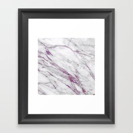 Gray and Ultra Violet Marble Agate Framed Art Print