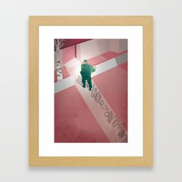 Back home: post traumatic stress Framed Art Print