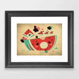 Watermelon Playground Framed Art Print