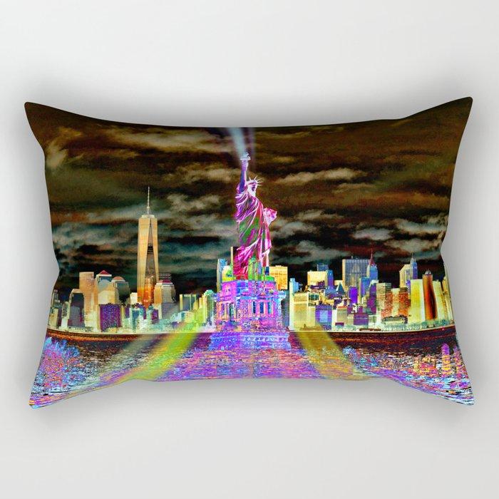 Pop New York Rectangular Pillow