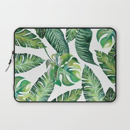 Jungle Leaves, Banana, Monstera #society6 Laptop Sleeve