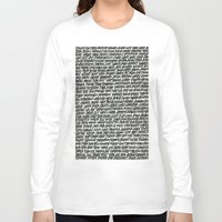 word Long Sleeve T-shirts featuring Word by Abstractink82
