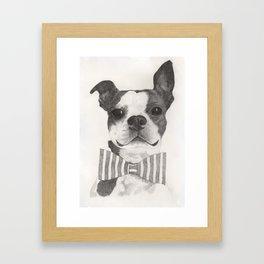 Bowtie Terrier Framed Art Print