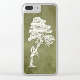 Bohdi Tree - White Clear iPhone Case