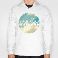 vampire weekend Hoodies featuring Vampire Weekend clouds logo by Elianne