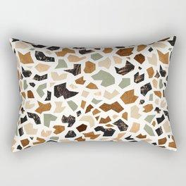 Gold Terrazzo Pattern Rectangular Pillow