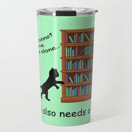 Cats and Books Travel Mug