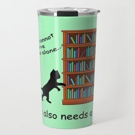 Cats and Books Travel Mug