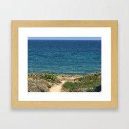 path to ionian sea Framed Art Print