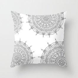 Enjoying on White Background Throw Pillow