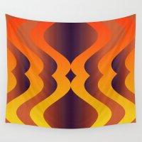 lantern Wall Tapestries featuring Fire Lantern by Andy Readman @ AR2 Studio