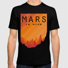 MARS Space Tourism Travel Poster MEDIUM Black Mens Fitted Tee