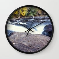 rush Wall Clocks featuring rush by Bonnie Jakobsen-Martin