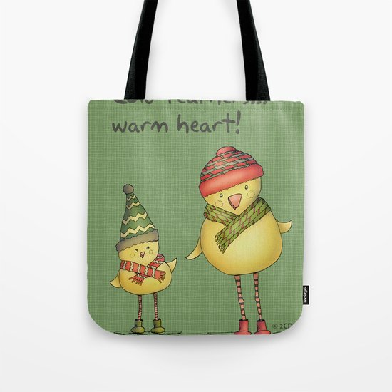 Two Chicks - green Tote Bag