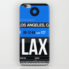 LAX Los Angeles Luggage Tag 3 iPhone Skin