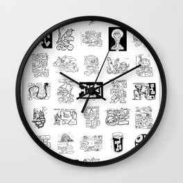 Thirty Five Dungeon Maps Wall Clock