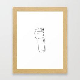 """"""" Kitchen Collection """" - Hand Holding Beer Bottle Framed Art Print"""