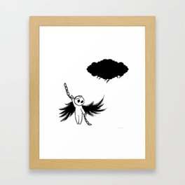 Halloween's angel Framed Art Print