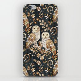 Wooden Wonderland Barn Owl Collage iPhone Skin