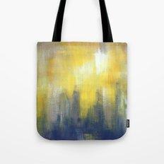 Yellow and Grey Tote Bag