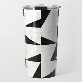 Mid-Century Modern Pattern No.11 - Black and White Travel Mug