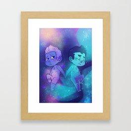 Milky Way & Aurora Framed Art Print