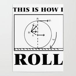 physics math nerdy pun formula funny gift Poster