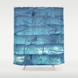 Ice Star Sculpture Shower Curtain