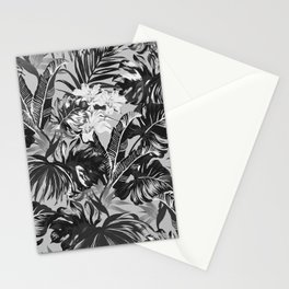 Bird of Paradise Hawaii Rainforest Black and White Stationery Cards
