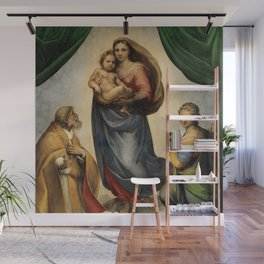 The Sistine Madonna Oil Painting by Raphael Wall Mural