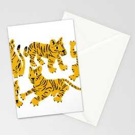 Playful Tigers Stationery Cards