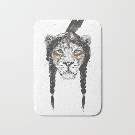 Warrior lion Bath Mat