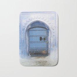 Blue Door / Porte originale/ Chefchaouen / by WHITEECO Ecologic design Bath Mat