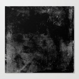 Black as coal Canvas Print