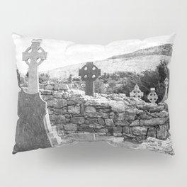 Halloween Graveyard | Horror | Black and White Cemetery | Gothic Graves | Pillow Sham