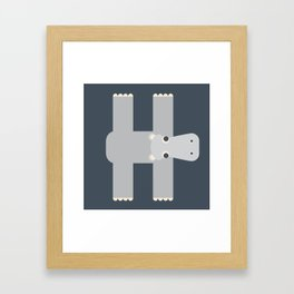 Letter H // Animal Alphabet // Hippo Monogram Framed Art Print