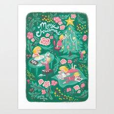 Messy Christmas Art Print