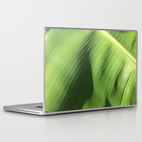 banana leaf Laptop & iPad Skins featuring Banana Leaf by Glenn Designs