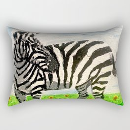 Stripes and Sunflowers Rectangular Pillow