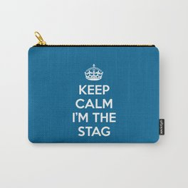 Keep Calm Stag Quote Carry-All Pouch