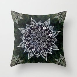 Mandala Rising Soul Spiritual Zen Bohemian Hippie Yoga Mantra Meditation Throw Pillow