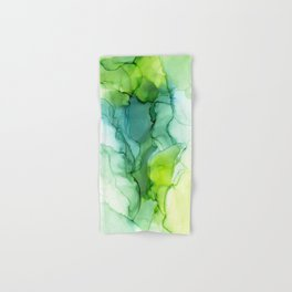 Spring Greens Abstract Landscape Hand & Bath Towel