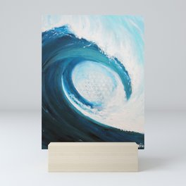 Flower of life in a wave Mini Art Print