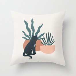 flora and fauna Throw Pillow