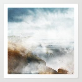Moring mist Art Print