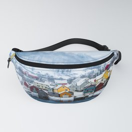 A Small Town in Norwegian Fjords Fanny Pack